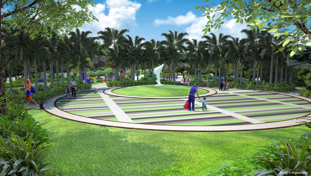 Adarsh Palm Acres family activity landscape