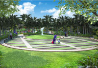 Adarsh palm acres villa landscape