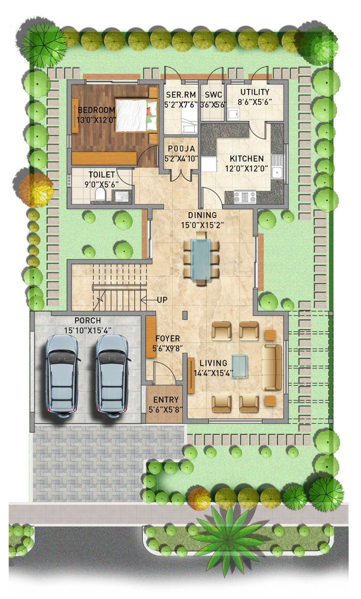 Adarsh Palm  Azure ground floor plan