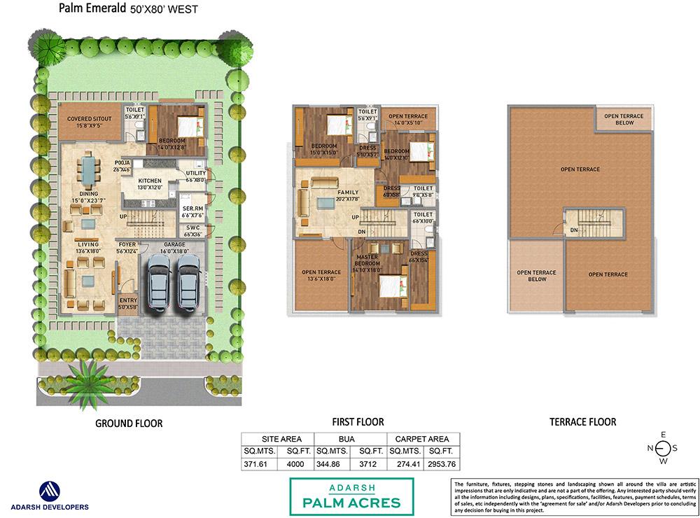 Floor Plan Adarsh Palm Acres